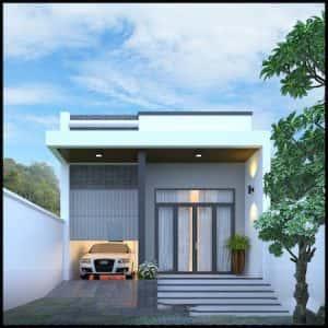 nha ong 1 tang dep 1 300x300 - Tổng hợp 45 mẫu thiết kế nhà ống 1 tầng 3 phòng ngủ đẹp nhất hiện nay