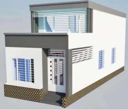 nha ong 1 tang dep - 60 Mẫu thiết kế nhà ống 2 tầng đẹp với chi phí xây dựng rẻ tới bất ngờ