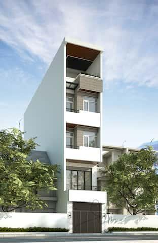 nha pho dep 5 tang kts phan dinh kha - Thiết kế nhà 5 tầng đẹp hiện đại chị Vân ở quận Bình Thạnh