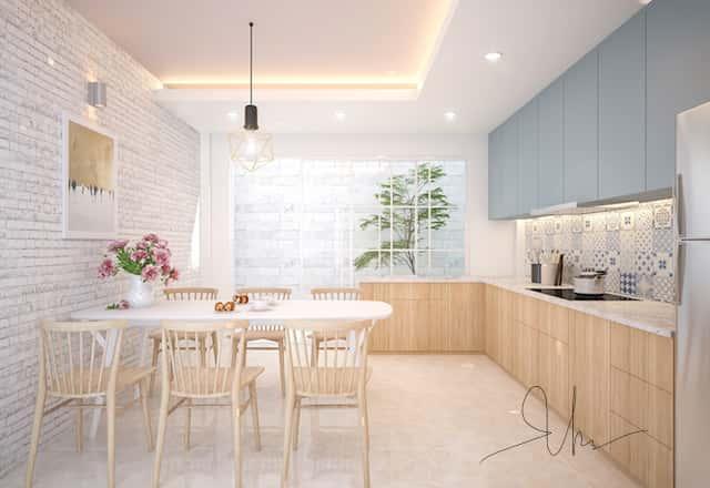 noi that nha pho ms van binh thanh bep v1 - Thiết kế nhà 5 tầng đẹp hiện đại chị Vân ở quận Bình Thạnh