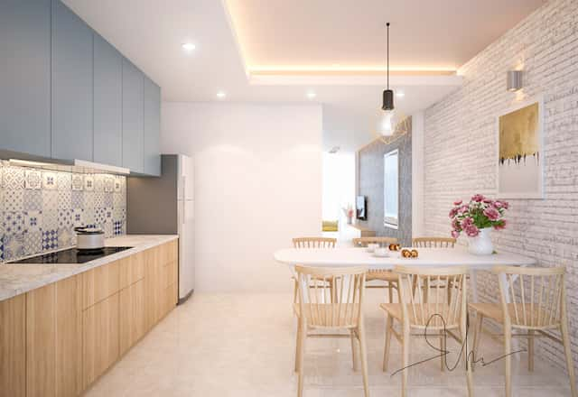 noi that nha pho ms van binh thanh bep v2 - Thiết kế nhà 5 tầng đẹp hiện đại chị Vân ở quận Bình Thạnh