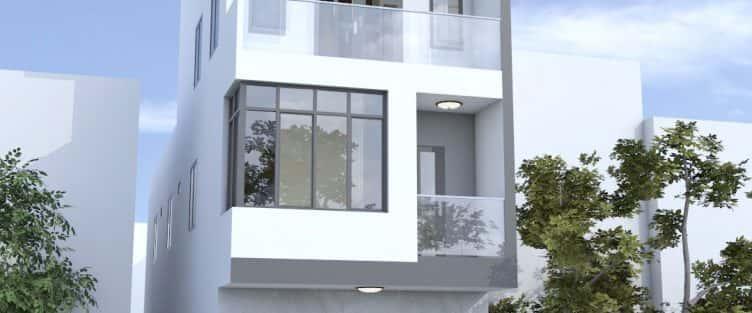 Thiết kế nhà mặt tiền 4.7m anh Chung ở Quận 9, TPHCM