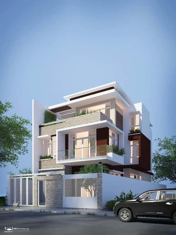 thiet ke biet thu 3 tang 1 1 - Thiết kế biệt thự 3 tầng đẹp
