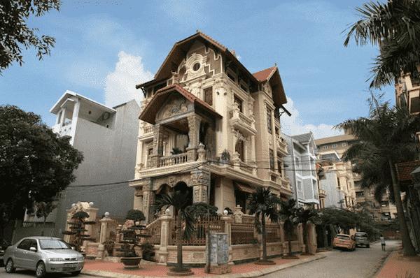 thiet ke biet thu tan co dien 06 - Bộ sưu tập mẫu thiết kế biệt thự phố đẹp và sang trọng
