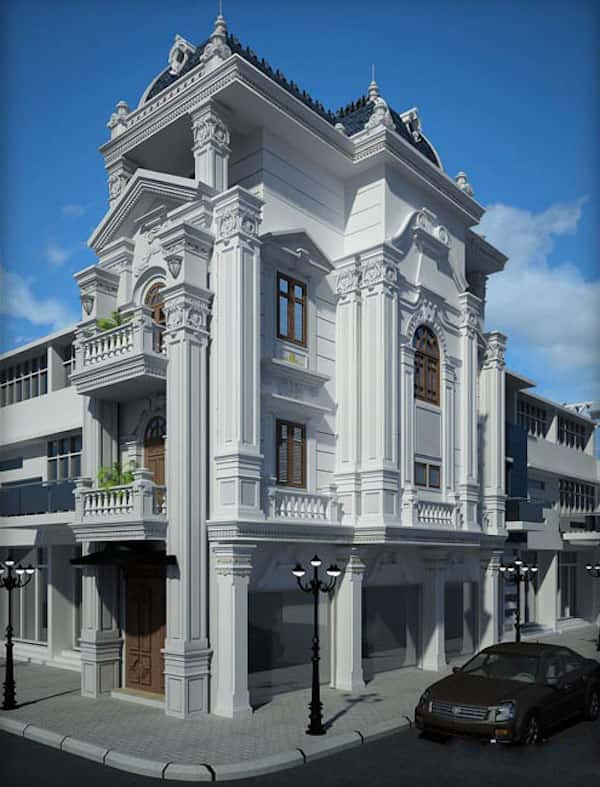 thiet ke biet thu tan co dien 08 - Các dự án thiết kế Biệt thự lâu đài đẹp đã thực hiện