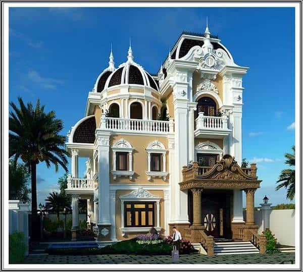 thiet ke biet thu tan co dien dep - Bộ sưu tập mẫu thiết kế biệt thự phố đẹp và sang trọng