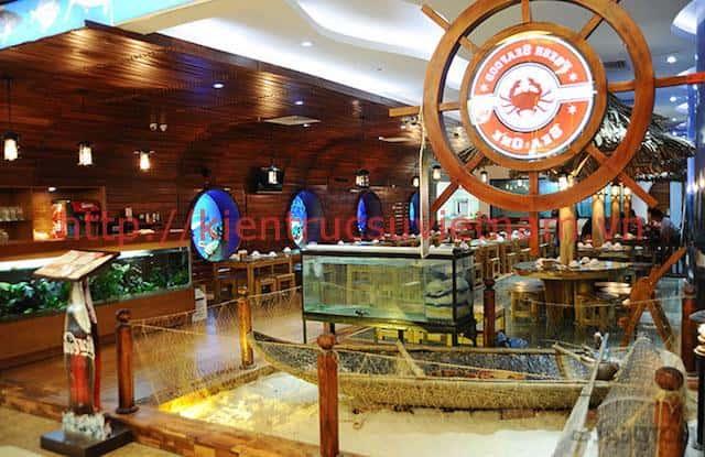 thiet ke nha hang hai san 1 - Thiết kế nhà hàng hải sản