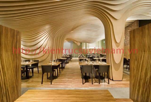 thiet ke nha hang hai san dang cap - Thiết kế thi công nhà hàng đẹp sang trọng