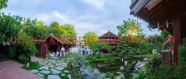 thiet ke nha hang san vuon - Xây biệt thự sân vườn 450m đẹp với kiến trúc hiện đại