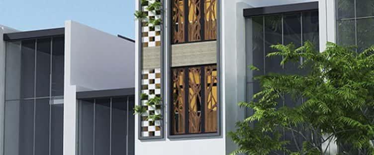 Thiết kế nhà 4 tầng với 4 phòng ngủ diện tích 5 x 11 m