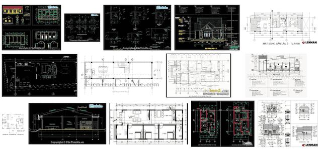 bản vẽ kết cấu nhà cấp 4