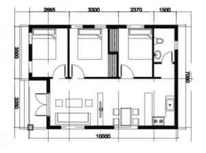 ban ve nha cap 4 300x223 - Bản vẽ nhà cấp 4 đẹp với công năng tối ưu chuẩn phong thuỷ