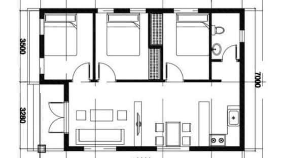 Bản vẽ nhà cấp 4 đầy đủ đẹp với công năng tối ưu chuẩn phong thuỷ