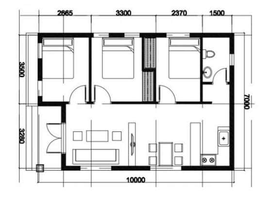 ban ve nha cap 4 - Bản vẽ nhà cấp 4 đẹp với công năng tối ưu chuẩn phong thuỷ