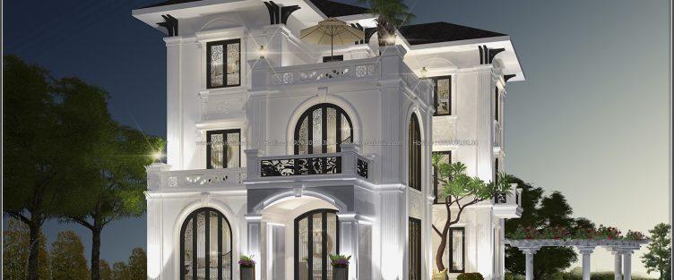 Biệt thự 3 tầng mái thái | Thiết kế biệt thự 3 tầng mái thái