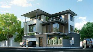 biệt thự 3 tầng 2 mặt tiền 11 300x169 - Biệt thự 3 tầng 2 mặt tiền | 50 mẫu đẹp đa phong cách