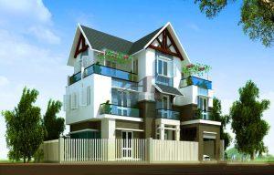 biệt thự 3 tầng 2 mặt tiền 2 300x192 - Biệt thự 3 tầng 2 mặt tiền | 50 mẫu đẹp đa phong cách