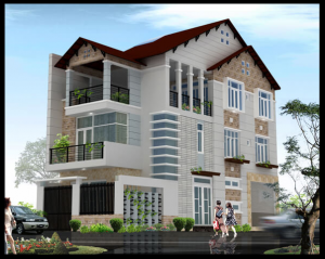 biệt thự 3 tầng 2 mặt tiền 2 300x239 - 100 mẫu biệt thự 3 tầng hiện đại đẹp nhất 2018