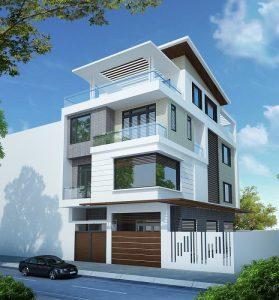 biệt thự 3 tầng 2 mặt tiền 4 279x300 - 100 mẫu biệt thự 3 tầng hiện đại đẹp nhất 2018