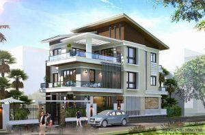 biệt thự 3 tầng 2 mặt tiền 6 300x198 - Biệt thự 3 tầng 2 mặt tiền | 50 mẫu đẹp đa phong cách