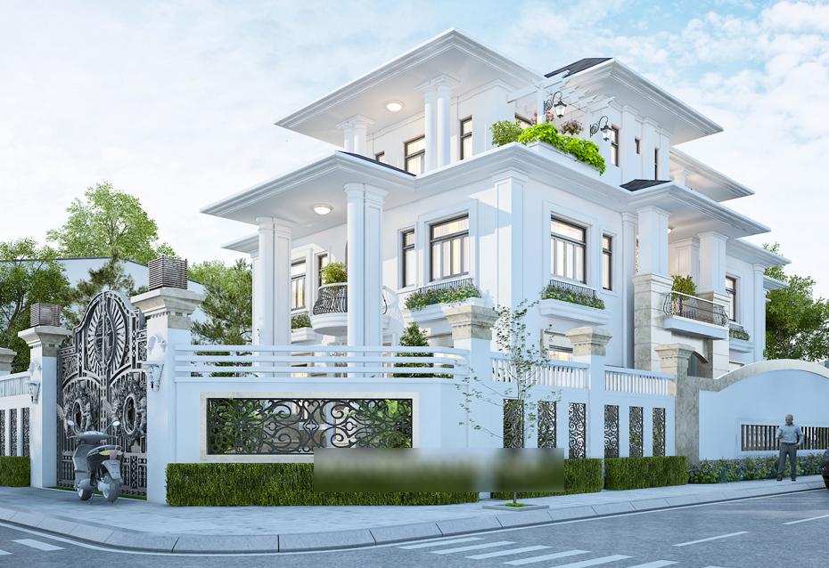 biệt thự 3 tầng 2 mặt tiền 7 - Biệt thự 3 tầng 2 mặt tiền | 50 mẫu đẹp đa phong cách
