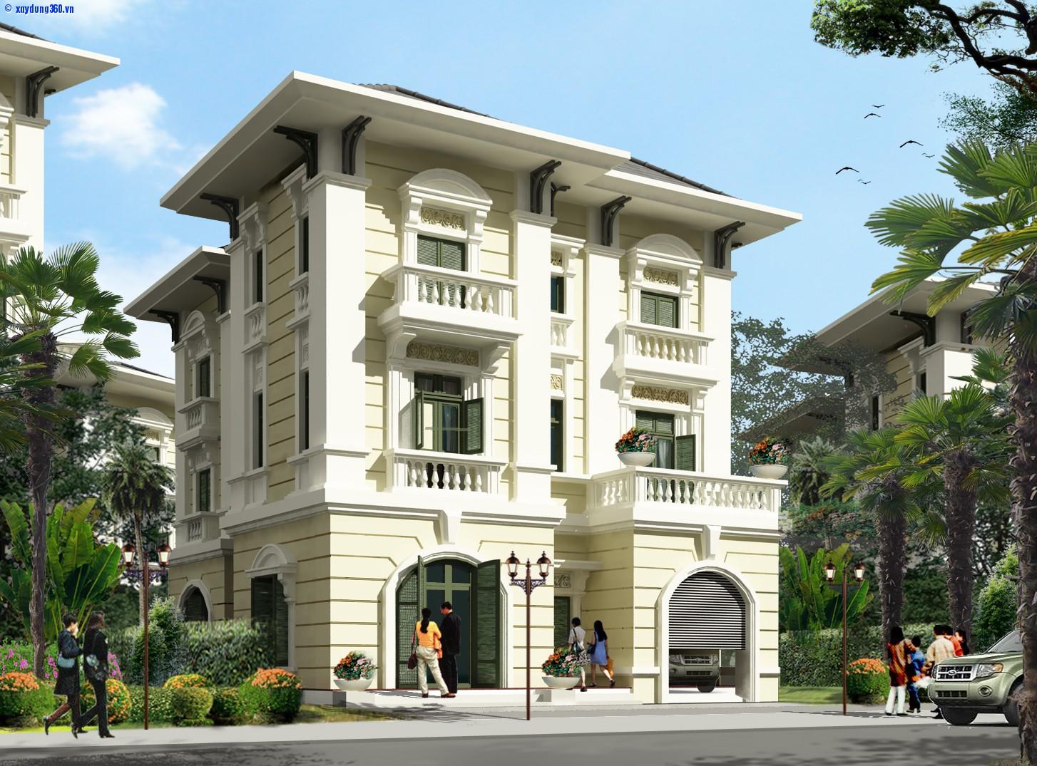 biệt thự 3 tầng 2 mặt tiền 9 - Biệt thự 3 tầng 2 mặt tiền | 50 mẫu đẹp đa phong cách
