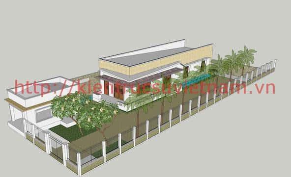 biet thu 1 tang dep 4 - Thiết kế biệt thự vườn 1 tầng ở Gia Lai