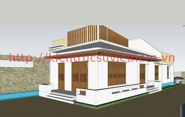 biet thu 1 tang dep 5 - Thiết kế biệt thự vườn 1 tầng ở Gia Lai