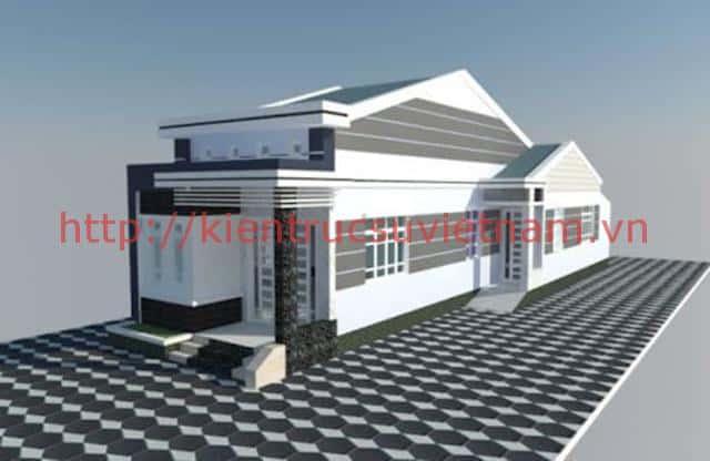 nha cap 4 dep 2018 k - Mẫu thiết kế nhà cấp 4 gác lửng đẹp 60m2, 70m2 hiện đại giá từ 250 triệu tới 400 triệu
