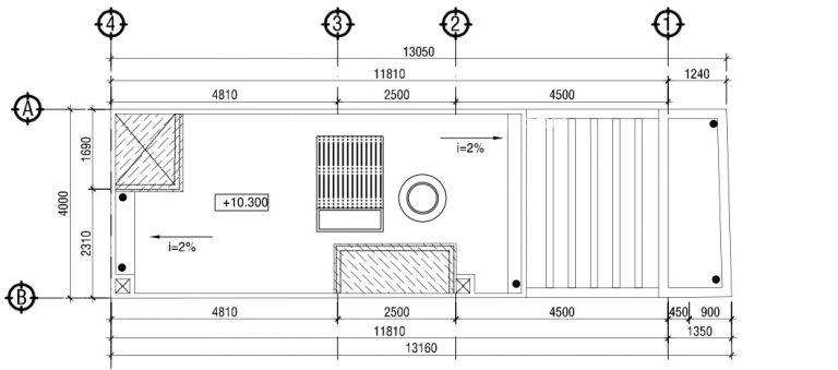 thiết kế nhà ống 3 tầng mặt tiền 4m 3 - Bản vẽ cad thiết kế nhà phố 3 tầng diện tích 5x8 lệch tầng