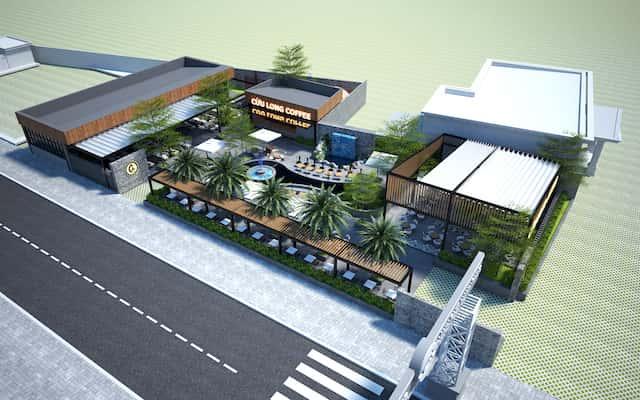 thiet ke quan cafe 1view 1 - Các dự án thiết kế quán cafe đã thực hiện tại Cần Thơ
