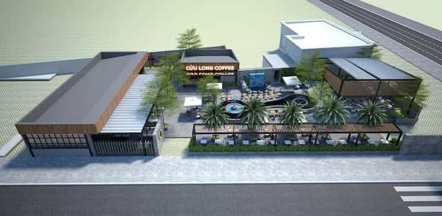 Thiết kế quán cafe Cửu Long, Cần Thơ