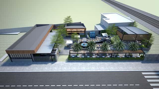 thiet ke quan cafe 1view 2 - Các dự án thiết kế quán cafe đã thực hiện tại Cần Thơ