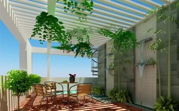 thiet ke san thuong 2 - Mẫu nhà biệt thự 3 tầng đẹp | Thiết kế biệt thự 3 tầng đẹp