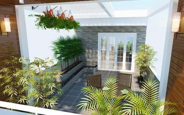 thiet ke san thuong dep 1a - Mẫu nhà biệt thự 3 tầng đẹp | Thiết kế biệt thự 3 tầng đẹp