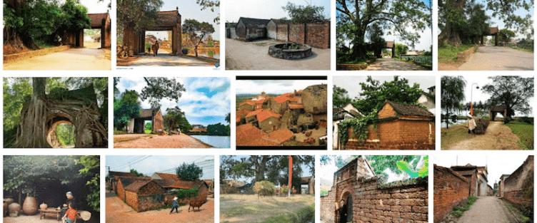 Kiến trúc độc đáo Làng cổ Đường Lâm