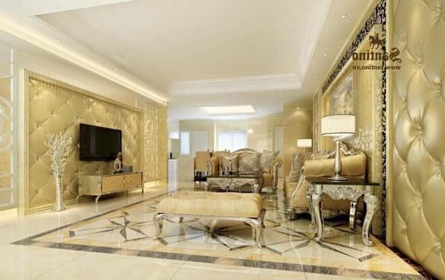03. Noi that phong khach tan co dien - Thiết kế nội thất phòng khách tân cổ điển
