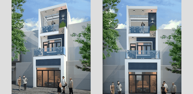 Dự toán chi phí xây nhà 3 tầng 70m2 đẹp với phong cách ấn tượng