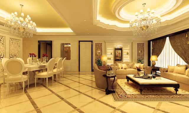 Thiet ke noi that phong khach tan co dien - Thiết kế nội thất phòng khách tân cổ điển