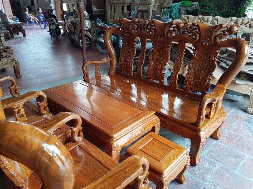ban ghe xa cu 1 - Bỏng mắt với 10 bàn ghế ghế gỗ xà cừ với giá 12 đến 15 triệu
