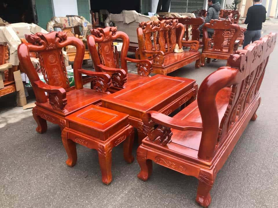 ban ghe xa cu 10 - Bỏng mắt với 10 bàn ghế ghế gỗ xà cừ với giá 12 đến 15 triệu