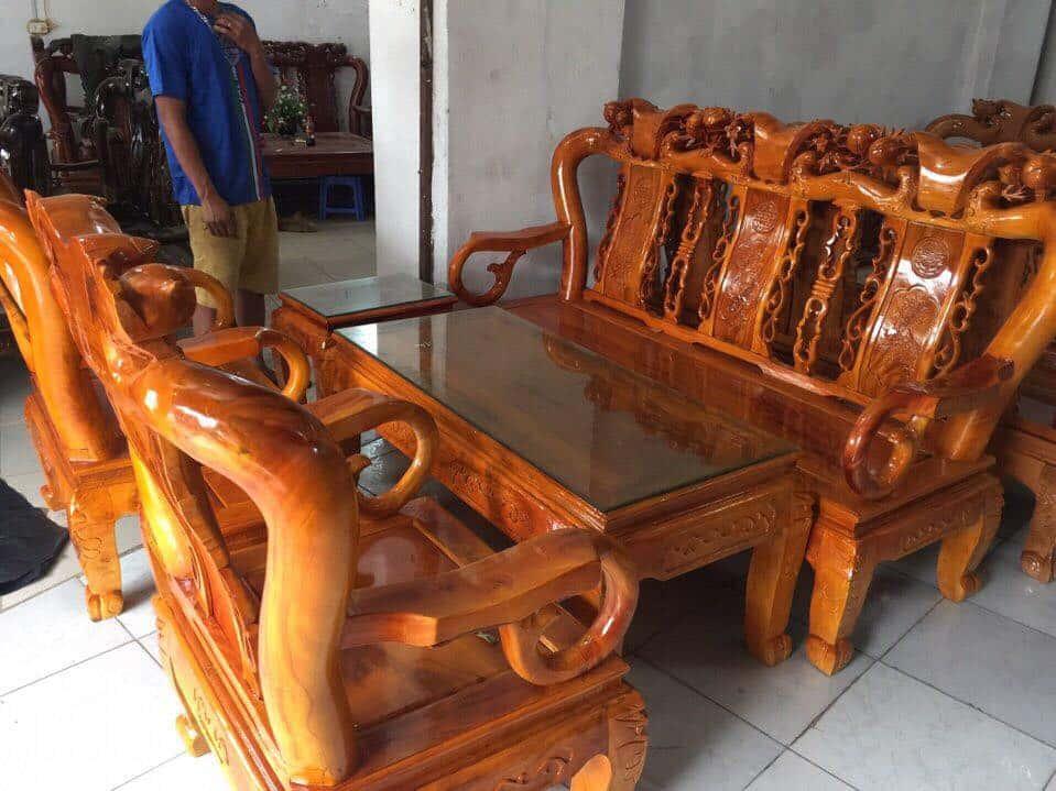 ban ghe xa cu 12 - Bỏng mắt với 10 bàn ghế ghế gỗ xà cừ với giá 12 đến 15 triệu
