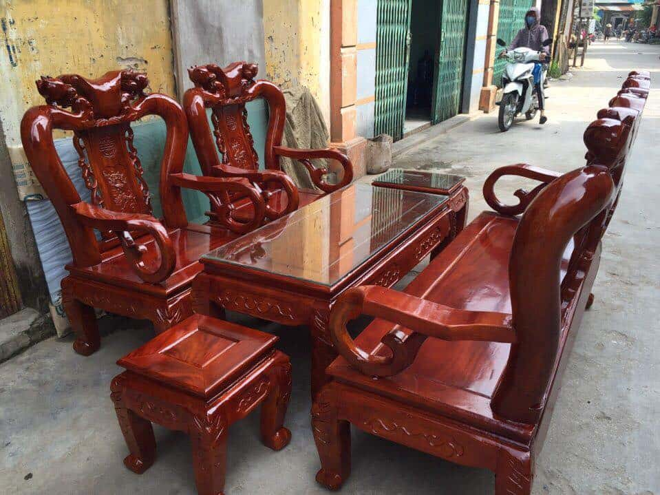 ban ghe xa cu 15 - Bỏng mắt với 10 bàn ghế ghế gỗ xà cừ với giá 12 đến 15 triệu