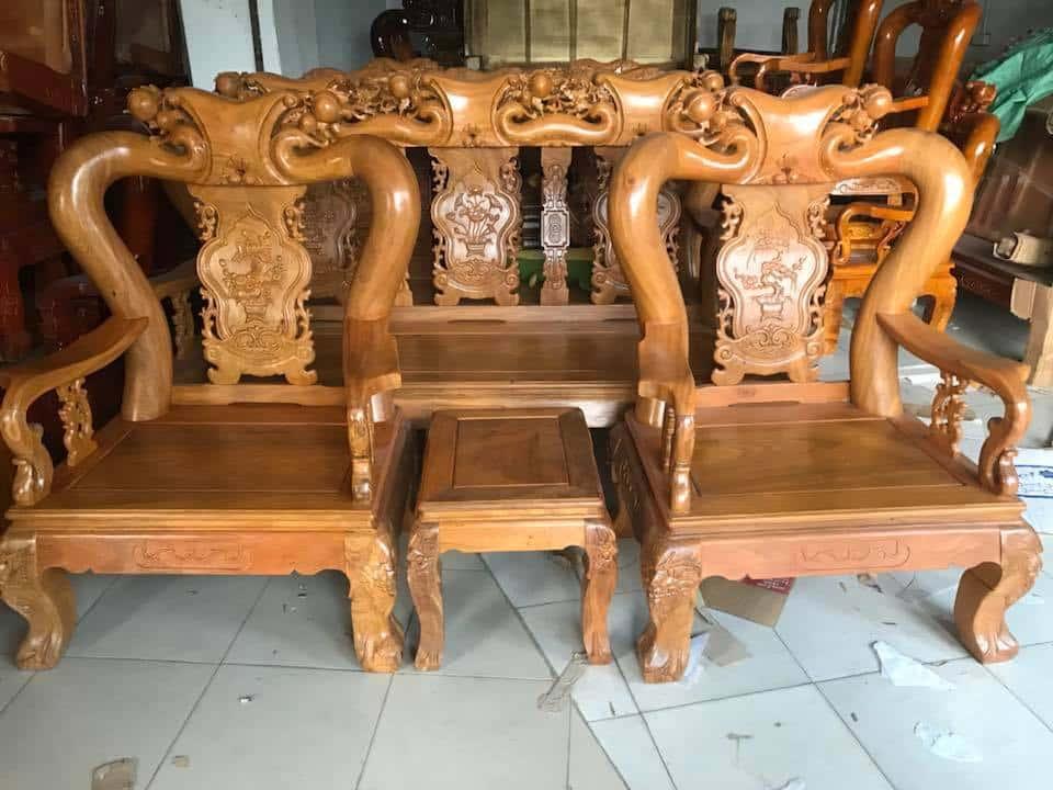 ban ghe xa cu 5 - Bỏng mắt với 10 bàn ghế ghế gỗ xà cừ với giá 12 đến 15 triệu