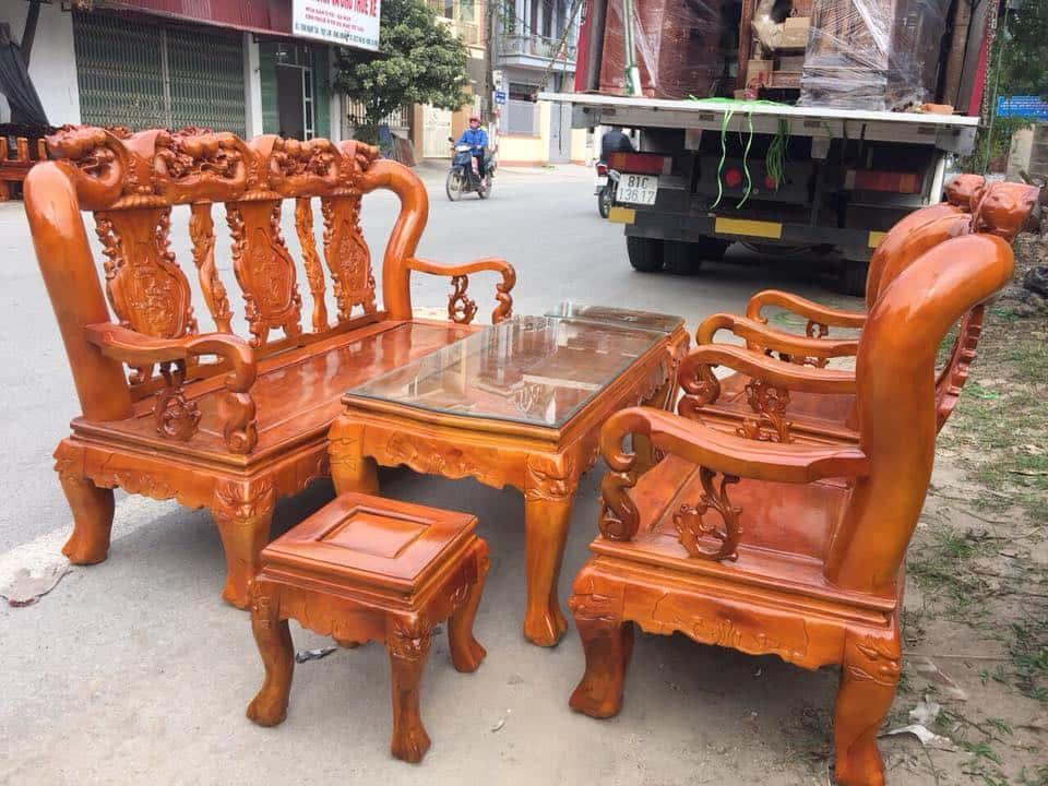 ban ghe xa cu 6 - Bỏng mắt với 10 bàn ghế ghế gỗ xà cừ với giá 12 đến 15 triệu