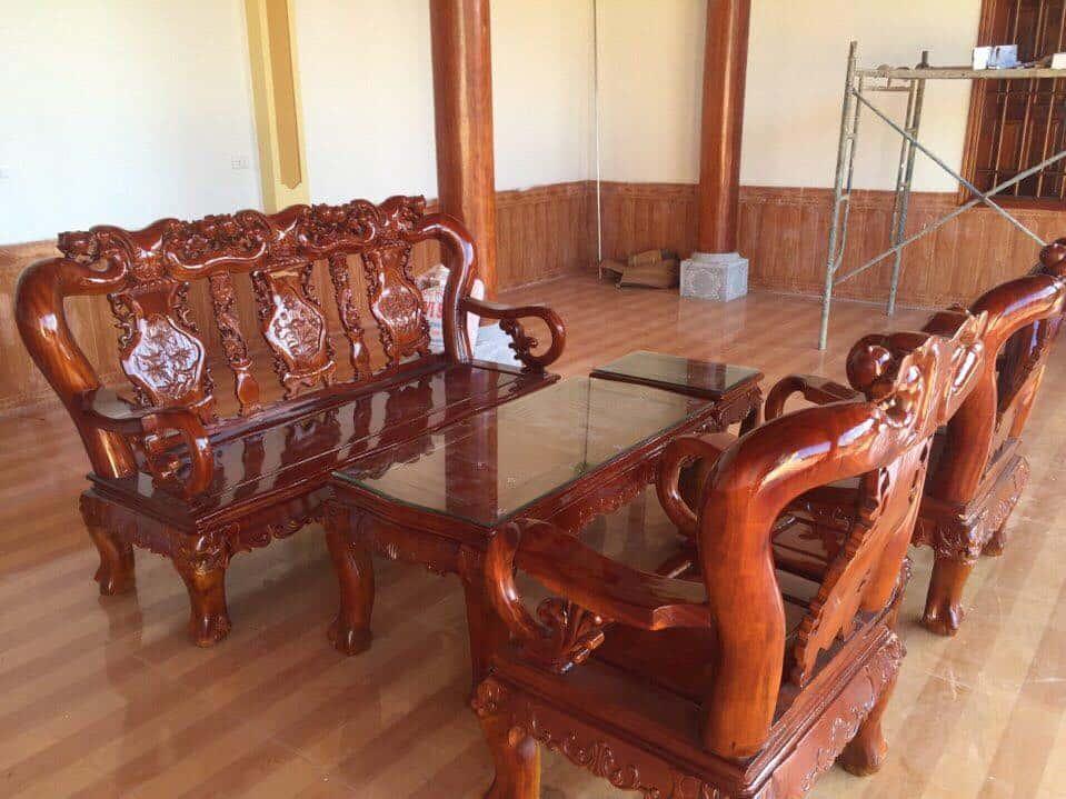 ban ghe xa cu 8 - Bỏng mắt với 10 bàn ghế ghế gỗ xà cừ với giá 12 đến 15 triệu
