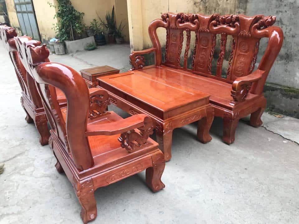 ban ghe xa cu 9 - Bỏng mắt với 10 bàn ghế ghế gỗ xà cừ với giá 12 đến 15 triệu