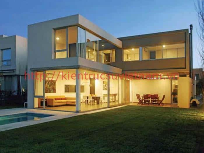 biet thu 2 tang chu l 6 - Thiết kế biệt thự 2 tầng chữ L đẹp và chuyên nghiệp nhất hiện nay