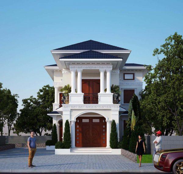 biet thu 2 tang e1594137159121 - Bộ sư tập 60 Mẫu thiết kế biệt thự phố 2 tầng đẹp sang trọng