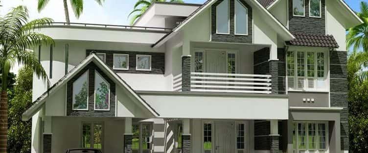 Mẫu biệt thự 2 tầng đơn giản, tiện nghi và sang trọng